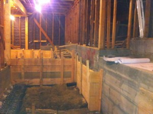 Basement converting into living area. Foundation phase. Glendale ca